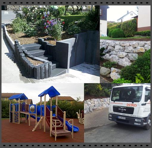 Leistung Debus, Baggerarbeit, Gartengestaltung Biedenkopf