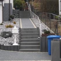 Gartenbau, Biedenkopf, Landschaftsgestaltung, Stufen, Steingarten